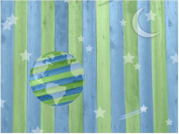 Wood inlay depicting the earth and moon for infant STEAM at our Fort Myers daycare.Picture